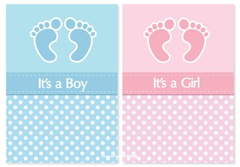 baby sts for card baby shower card set free vector