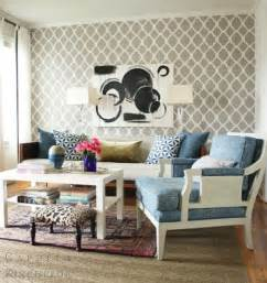 On Trend Living Room Wallpaper Trends In Wallpaper Accent Walls Bossy Color