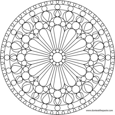flower mandala coloring pages printable flower mandala picture to color stained glass window