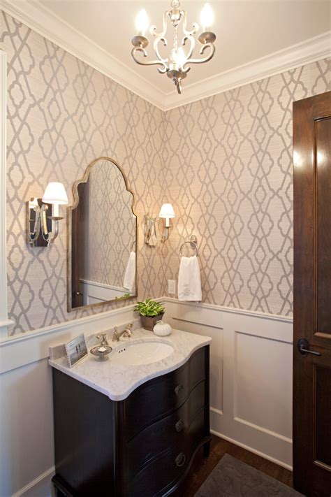 wallpaper bathrooms with wood bathroom traditional and