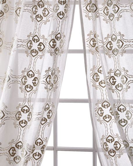 organdy curtains pine cone hill each 50 quot w x 96 quot l madeline striped curtain