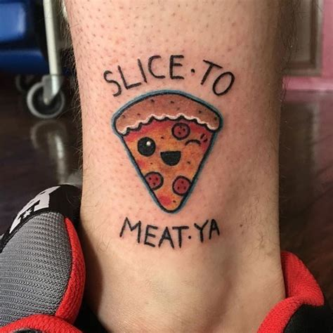 meat tag tattoo best 25 pizza ideas only on food