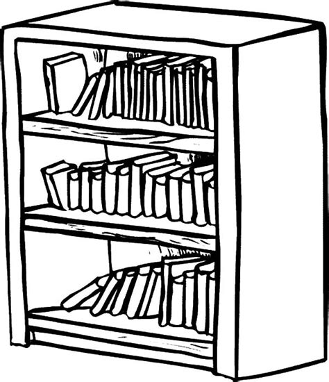 bookshelf sketch bookshelf coloring pages best place to color