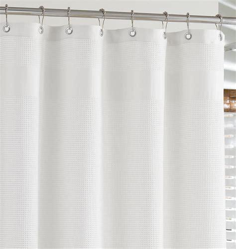 white waffle shower curtain white waffle weave shower curtain rejuvenation