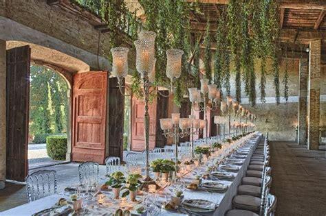 Outdoor/Indoor Tuscany wedding reception. #lightingdesign