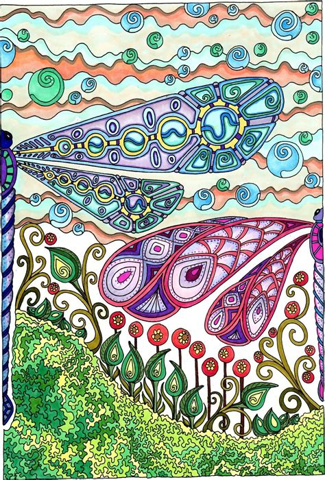 creative haven entangled dragonflies amazon com bellabella by the sea s review of creative haven entangled dragonflies color