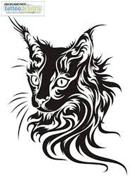 celtic cat tattoo designs another tribal cat design tattoos book 65 000
