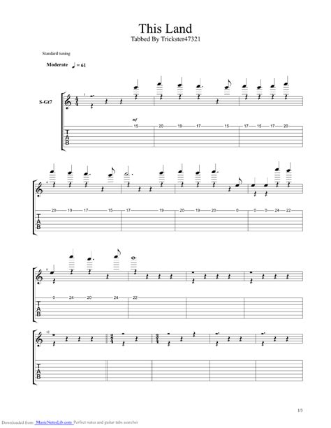 cartoon themes chords king this land guitar pro tab by misc cartoons