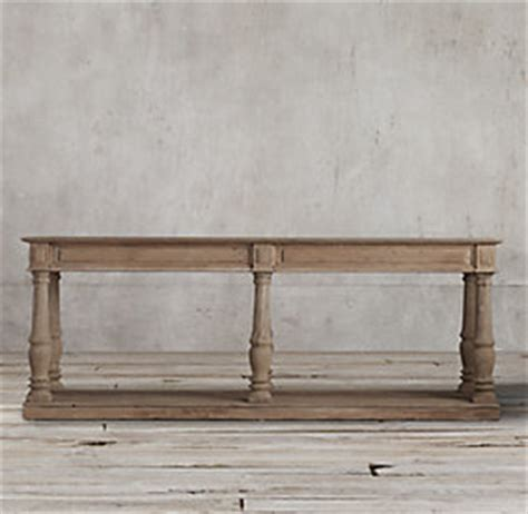 restoration hardware console table distressed rectory small console