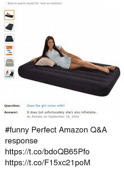 back to search results for air mattress question does the come with answer it does