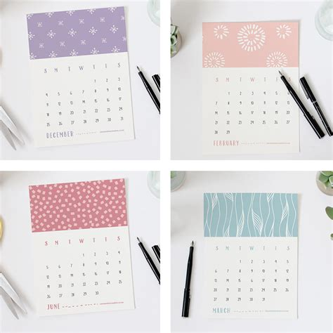 2016 printable mini calender printable 2016 mini calender for arts and crafts
