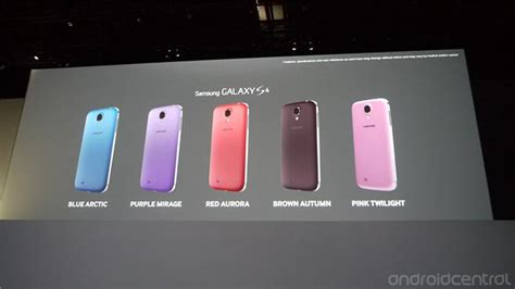 galaxy s4 colors samsung announces five new colors of the galaxy s4