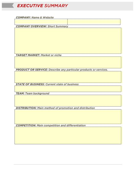 free business plan template south africa executive summary assignment