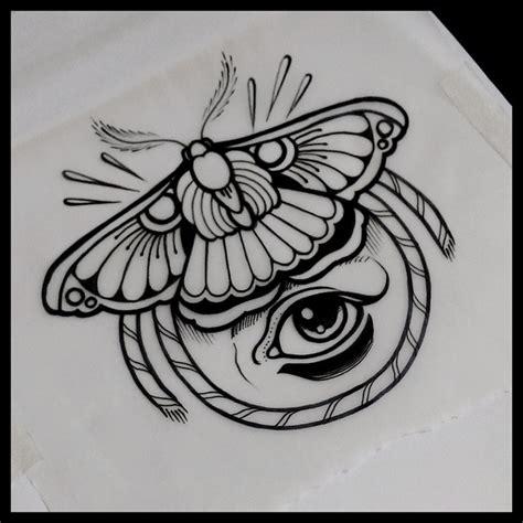 eyeball tattoo stencil traditional moth tattoo drawing