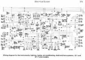 electrical system diagram of daihatsu charade g11 and g11 turbo circuit wiring diagrams