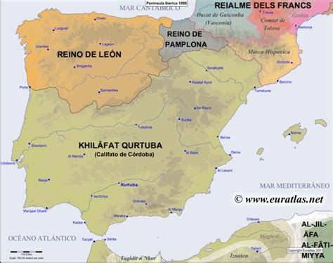 iberian peninsula on map map of the iberian peninsula in the year 1000 website with
