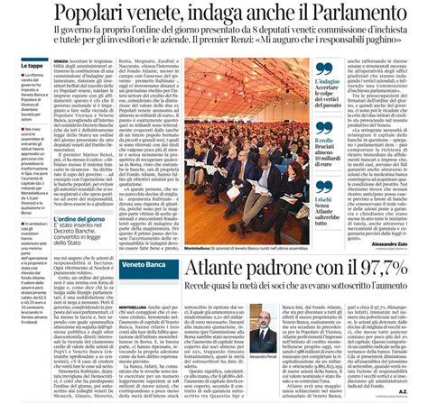notizie banche popolari popolari venete indaga anche il parlamento corriere