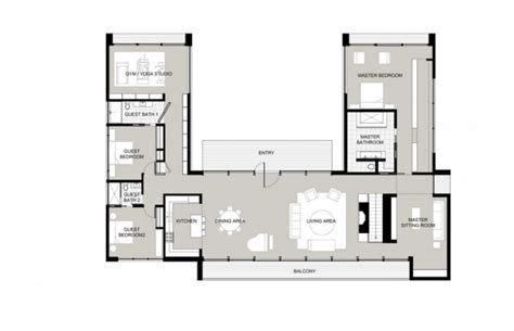 l shaped house plans with pool in middle