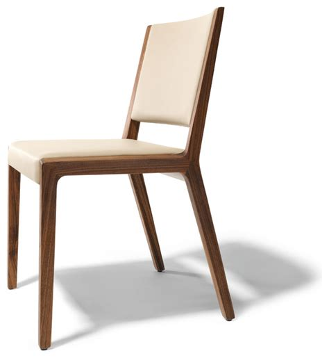 Modern Wood Dining Chair Eviva Contemporary Walnut Chair Modern Dining Chairs By Wharfside