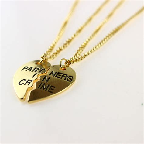 new 2014 fashion jewelry gold necklace best friends