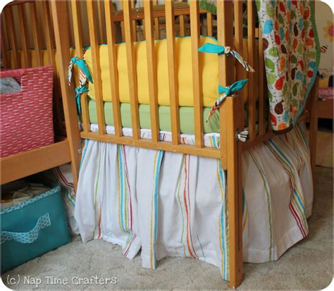 Make Your Own Crib Skirt by Crib Skirt Tutorial Peek A Boo Pages Sew Something Special