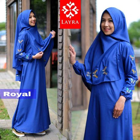 Gamis Butterfly Set Fashion Muslim butterfly royal baju muslim gamis modern