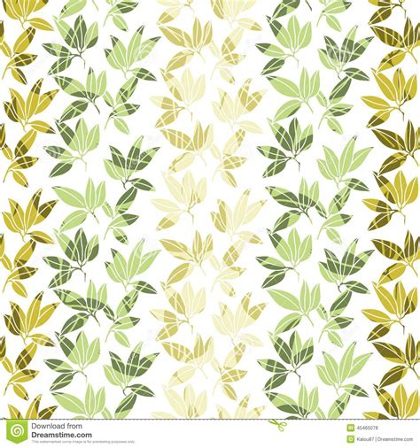 pattern design nature tropical leaves pattern vector illustration stock