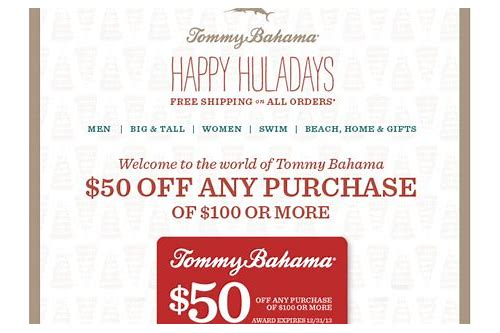 tommy bahama discount coupons