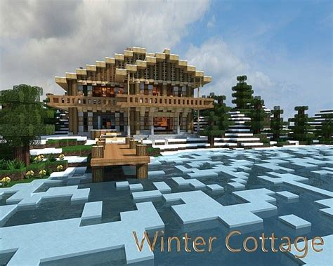 winter cottage winter cottage minecraft project