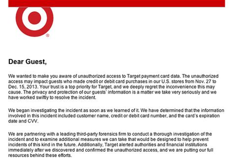 Target Credit Card Breach Letter Target S Big Pr Nightmare The Storefront Marketwatch