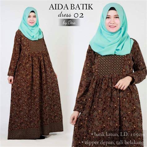 37152 Dress Tali Pinggang jual dress batik aida 2 dinar batik