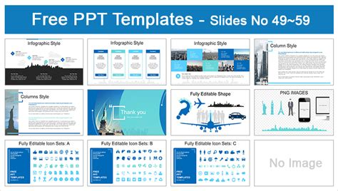 will template new york free statue of liberty new york skyline powerpoint templates