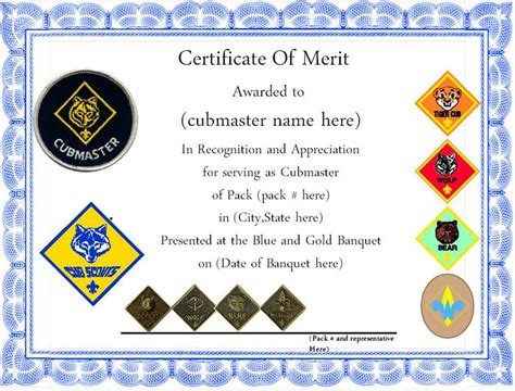 cub scout award card template 16 best images about cub scout committee chair on