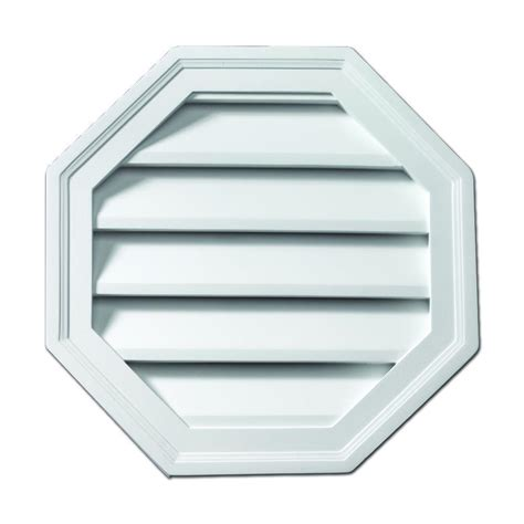 fypon gable vents fypon 22 in x 22 in polyurethane functional octagon