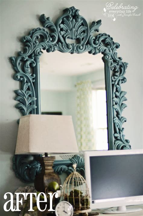 chalk paint mirror painting with sloan chalk paint chalk paint mirror