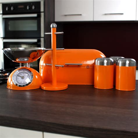 orange kitchen canisters set of 3 orange dome canisters unique home living