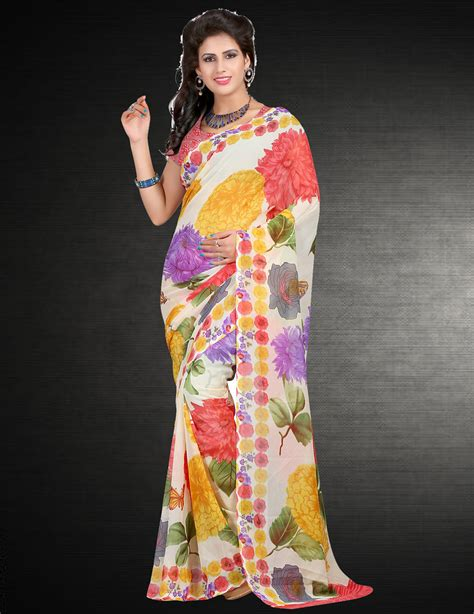 wilori beautiful multi faux georgette daily wear sarees wi