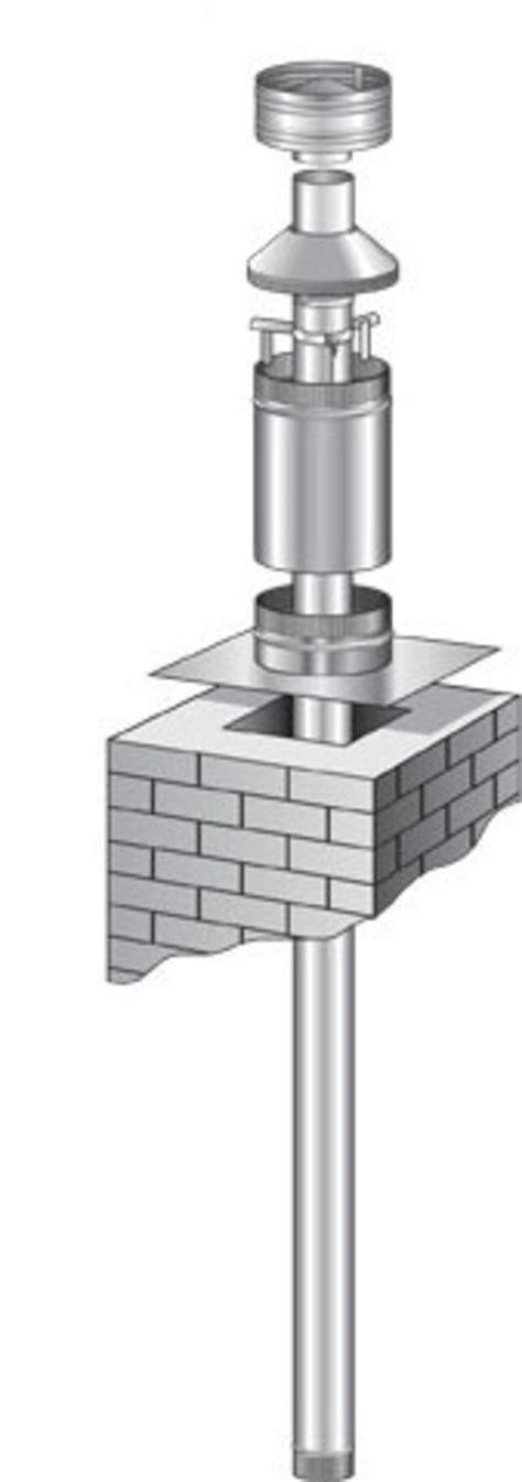 chiminea flue kit flue kit for 150mm masonry chimney insert fires
