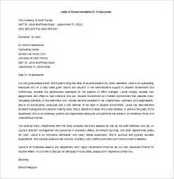 template for letter of recommendation from employer 9 recommendation letters free sle exle