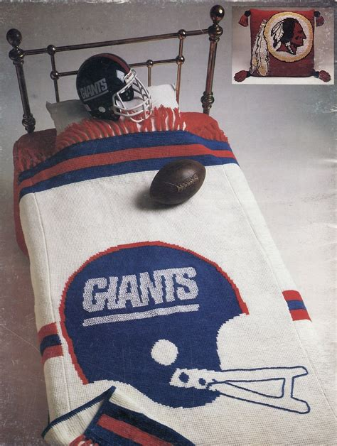 Crochet Football Pillow Pattern by Nfl Afghan Robe And Pillow Nomis Crochet And 35 Similar Items