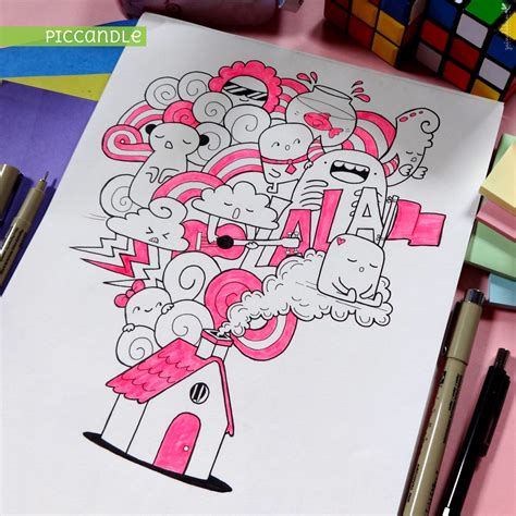 create a doodle drawing photos house doodle by piccandle on deviantart