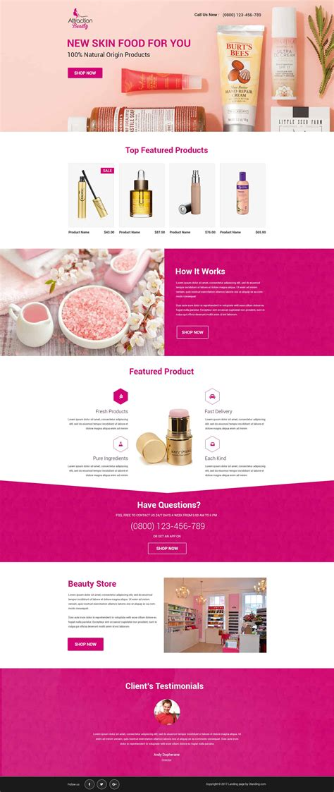 product landing page templates responsive products landing page design template to