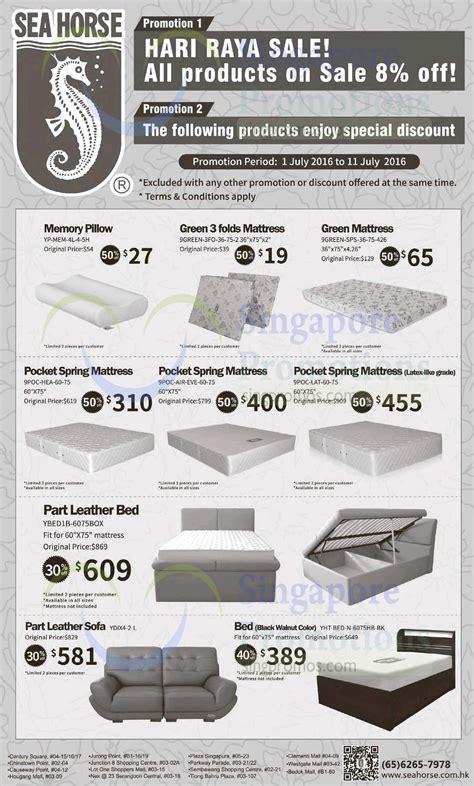 Singapore Seahorse Mattress by Sea 8 Storewide 30 To 50 Selected Items