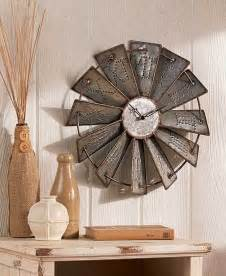 metal windmill wall clock wall decor home country rustic