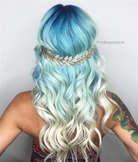 goddess of color sea goddess blue to balayage hair colors ideas