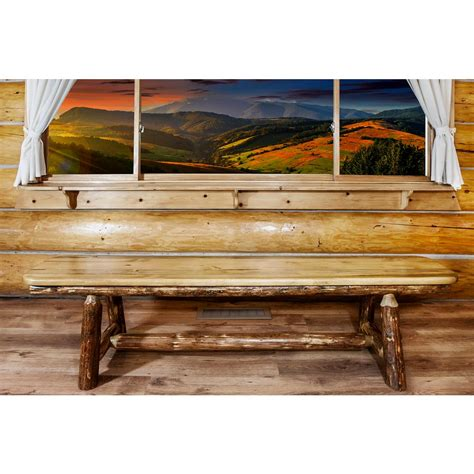 montana woodworks montana woodworks glacier country puritan pine bench