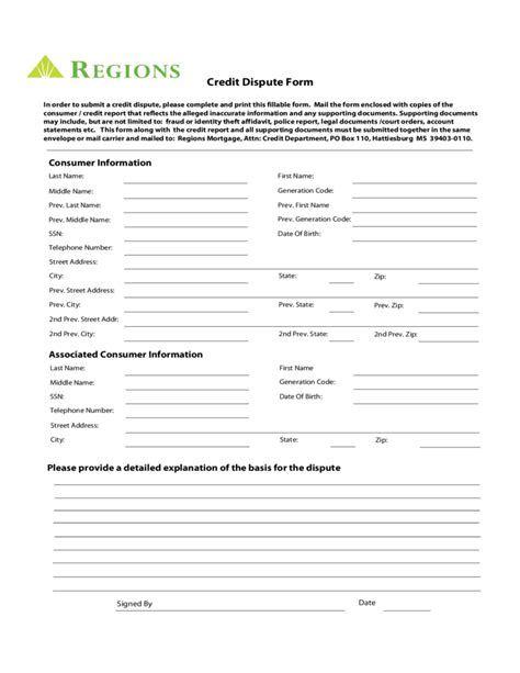 Credit Dispute Form credit dispute form alabama free