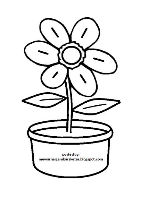 Vas Bunga Pot Bunga Tanaman Hijau Kotak Hitam mewarnai gambar 20 mewarnai gambar bunga