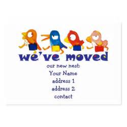 We Moved Cards Templates by We Ve Moved Large Business Cards Pack Of 100 Zazzle