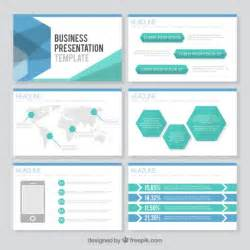 Template Presentation by Hexagonal Business Presentation Template Vector Premium